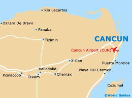 map of cancun area