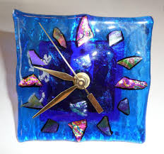 stained glass clocks