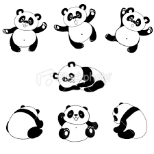 panda bear cartoons