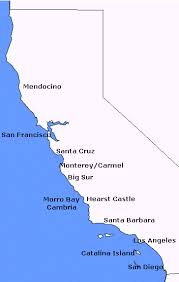california coast maps