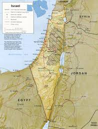israel mapa