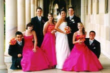bridesmaids dress pink