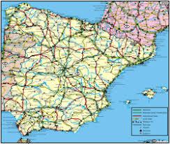 road maps spain