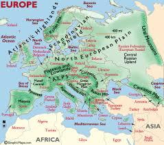 landforms in europe
