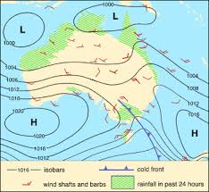 a weather map