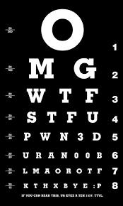 dmv eye chart