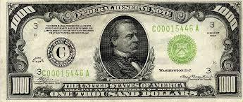 1000 dollar us bill
