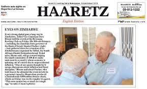 Haaretz Report - the day after