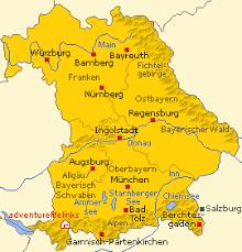 german alps map