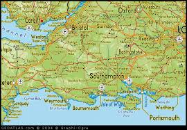 map south of england