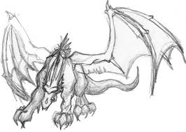 cool dragon sketches