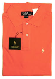 orange ralph lauren polo shirt