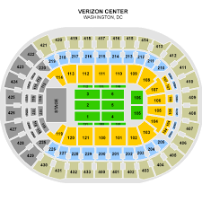 verizon center dc seating chart