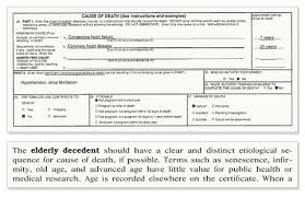death certificate example