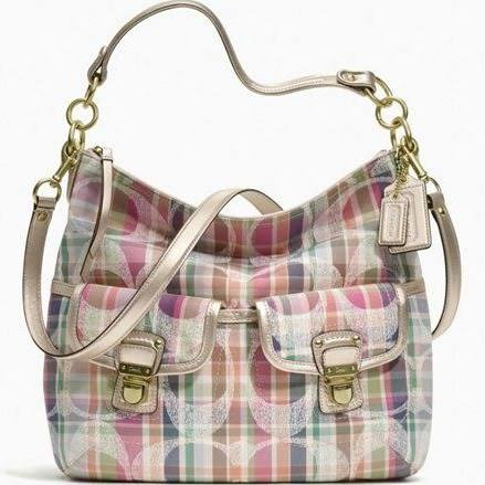 Coach Handbag - Daisy Madras Hobo Multicolor