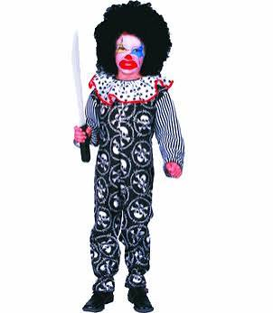 Child Scary Clown Costume - Large