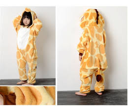 Lovely giraffe child kigurumi boy girl