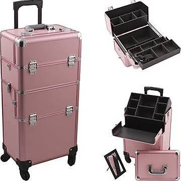 Pink Pro 4-Wheel Makeup Case