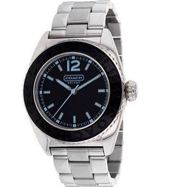 Coach Quartz Black Dial Stainless Steel