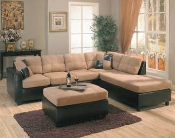 Harlow Contemporary Two Tone Tan Sectional