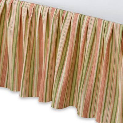 Pink Sage Stripes Twin Bed Skirt