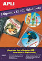Etiquetas Cd - Dvd Apli Mega Inkjet Dorso Glossy 117mm-18mm 10 Hojas