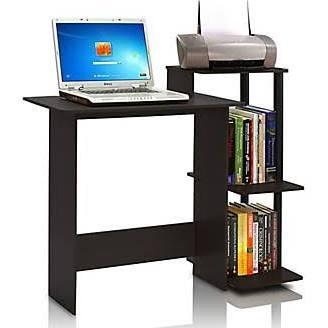 Furinno Home Computer Desk Espresso/Black