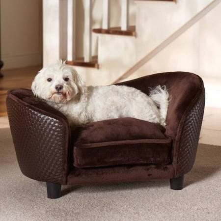 Memory Foam Dog Bed - Brown