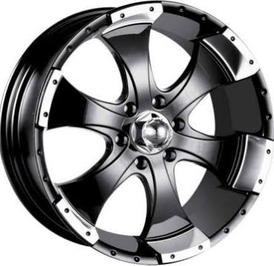 Detroit Wheels 136 Series Black Wheel