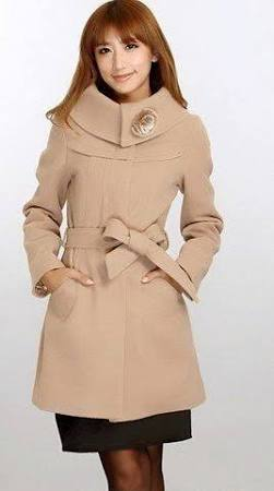 Women's Winter Coat W/ Rose Collar CLA817345EW