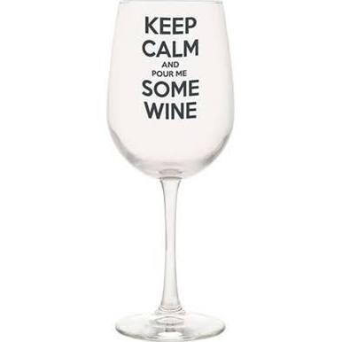 Wine Glass Phrases Sayings Keep Calm and