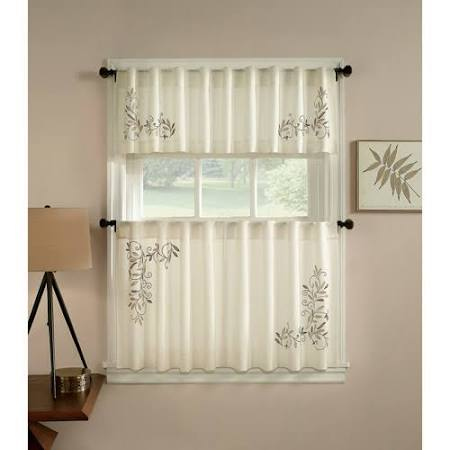 CHF You Scroll Leaf Tier Curtain Pair
