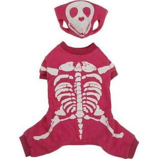 Skeleton Glow Bones Dog Costume - Pink