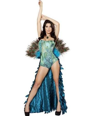 Sexy Peacock Costume - 2pc - Medium /