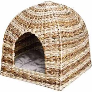 Pet Pals Cabana Style Hooded Pet Bed Kennel