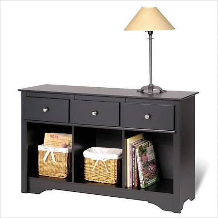 Prepac Black Living Room Console with