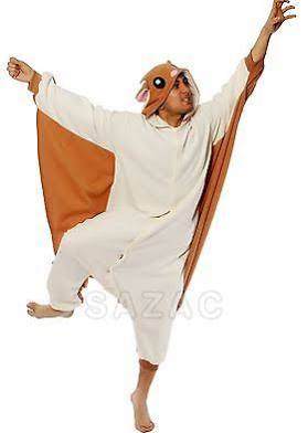 Flying Squirrel Kigurumi - Adult Costume