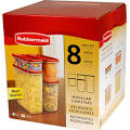 <b>Rubbermaid</b> 1776474 Dry Food Container Set 8 Piece