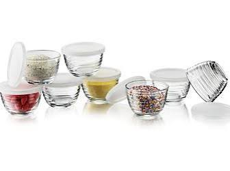 Libbey 8 Piece Small Bowl Set with Lids