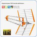 Antena SMT9000 diseñada para recepción TDT y TDTHD. Alta ganancia