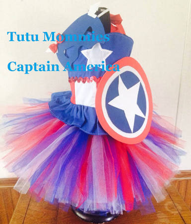 Captain America Girl Costume Mask and