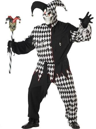 Evil Jester Adult Plus Costume - Adult