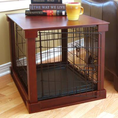 Merry Pet Products Crate with Wooden Cover
