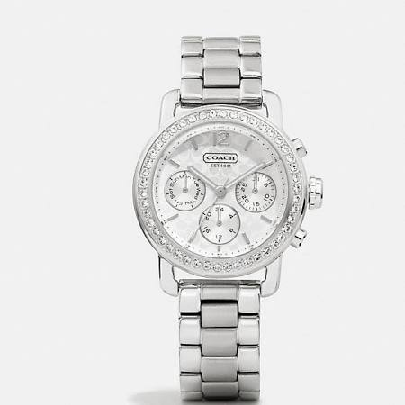 Coach Legacy Sport Stainless Steel Crystal
