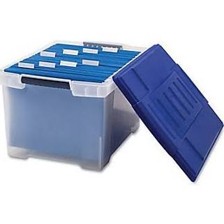 Plastic File Tote Storage Box Letter/Legal