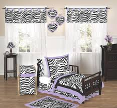Purple Zebra Toddler Bedding Set