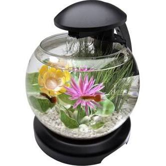 Tetra Waterfall Globe Aquarium Black 1.8