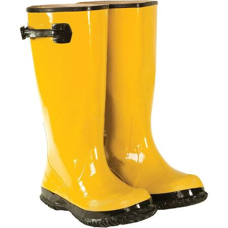 Custom Leather Craft Yellow Rainboots