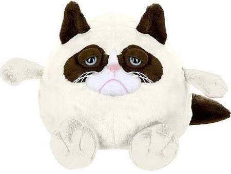 Grumpy Cat Ganz 8 Inch Ball Plush Grumpy
