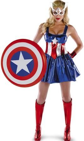 Women's Captain America Sassy Deluxe Adult